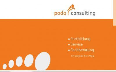 Frisch gedruckt und online – die neue Imagebroschüre von podo consulting